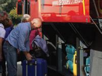 Kofferruimte in autobus bij De Globetrotter Deinze
